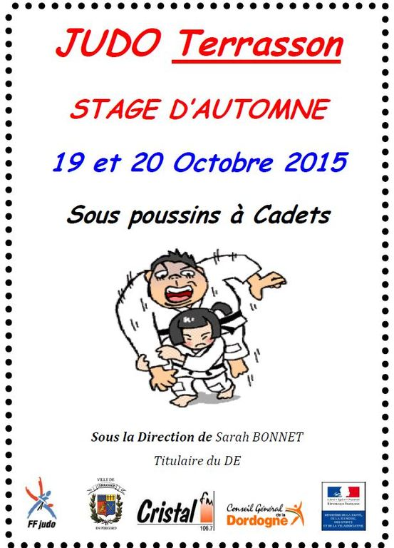Stage D Automne 2015 Judo Club De Terrasson